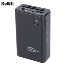 Wireless Card Reader USB Hub 3G Hotspot WiFi Router Repeater Power Bank 7800MAH RJ45 Port For Any Smartphone Tablet PC Laptop(China)