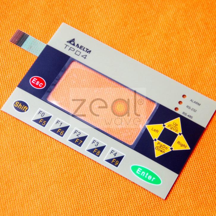 For Delta Text Panel TP04G-AS1 Touch Screen Panel Membrane Keypad Operation Panel Button Mask<br>