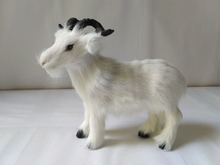 small cute simulation goat toy lifelike handicraft goat model gift about 19x9x17cm