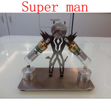 Cool !Miniature Stirling engine 'Super man' Stirling engine engine generator model hobby Educational Toy Kits