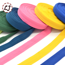 1''(25mm) hair tie making foe band fold over elastic ribbon binding tape webbing solid headwear handmade DIY decoration crafts(China)