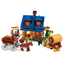 Farm Winery Animals Figures Plastic Blocks Friends Figures Set Models & Building Toy Learning Education For Children