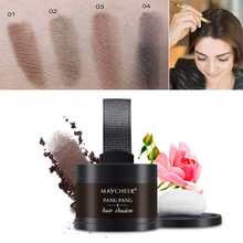 Hot Makeup Waterproof Natural Powder With Mirror Puff 4 Colors Hair Line Shadow Highlighter Powder Contour Makeup Palette(China)