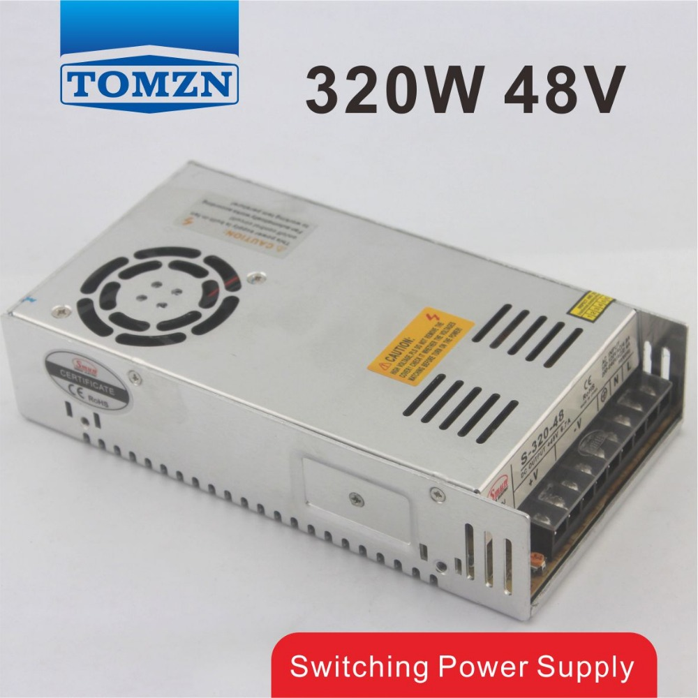 320W 48V 6.5A Single Output Switching power supply for LED Strip light AC to DC<br>