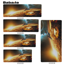 Babaite High quality Earth Gaming Mouse Pad 900 * 300 * 2mm Locking Edge Mouse Pad Speed version Mouse Pad CS go(China)