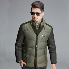 90% White Duck Down Jacket Men's Jacket Outdoors Stand Collar Winter Parka(China)