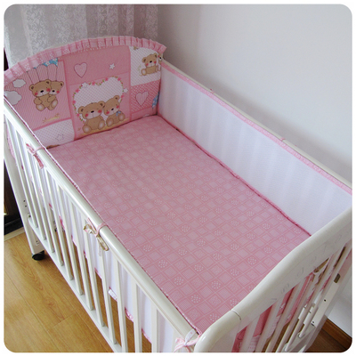 Promotion! 5PCS Mesh Lion Breathable Baby Crib Bumper,Baby Bedding bedclothes ,(4bumpers+sheet)<br><br>Aliexpress