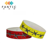200pcs without logo one time use printable paper wristbands customized paper wristbands  supplier biker bracelets for men