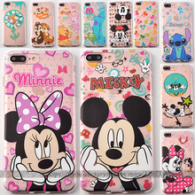 Coque Samsung Galaxy S6 S7 Edge Case Transparent TPU Cover Mickey Minnie Mouse Caso Fundas Capa iPhone SE 5 5S 6S 6 Plus - Asha Store store