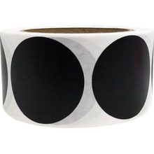 "2"" Black Blank Coding Dot Labels Round Natural Paper Stickers Adhesive Label 500 Per Roll (1 roll)(China)"