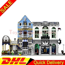 LEPIN 15001 Brick Bank +Lepin 15007 European Market Model Building Street Sight Kits Blocks Bricks lepins Toy Clone 10251 10190(China)