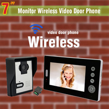 Wireless Video Intercom System 7 Inch Video DoorPhone Doorbell visual Intercom video door phone wireless video intercom Kit