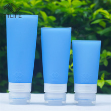 TTLIFE Silicone points bottling travel cosmetic shampoo bottles shower gel extrusion portable soft shell vial bottle
