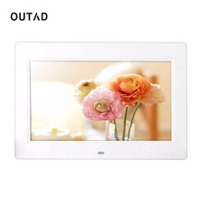 "OUTAD Digital Photo Picture Frame 10.1""Android 4.4  high resolution TFT-LCD  HD 1024*600 Alarm Clock MP3 MP4 Movie Player remote"