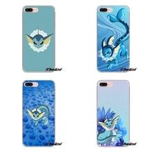 cute cartoon anime pokemon vaporeon Samsung Galaxy S3 S4 S5 MINI S6 S7 edge S8 S9 Plus Note 2 3 4 5 8 Transparent TPU Covers