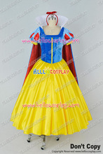 Snow White And The Seven Dwarfs Cosplay Snow White Princess Silk Velvet Dress Costume H008