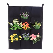 W Vertical Felt Garden Plant Grow Container Bags Wall Hanging Planter 7/12/16/18 Pocket