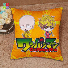 Square pillowcase Janpanese Anime One Punch Man Good Quality Pillow cover Pillow case 4 sizes free shipping