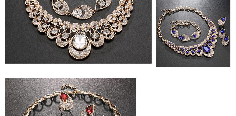 AYAYOO Jewelry Sets Fashion African Costume Jewelry Set Wedding Jewellery Sets For Women Nigerian Beads Necklace Jewelry Set (2)