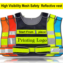 SPARDWEAR High visibility  mesh  reflective safety vest  logo printing free shipping