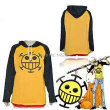 Anime One Piece Cosplay Trafalgar Law Hoodies Clothing costume unisex Sportswear long sleeve Hooded T-shirt Tops