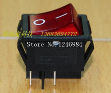 [SA]Power switch -Taiwan group legs black edges dual illuminated red 24V DC large rocker switch R5--50pcs/lot(China)