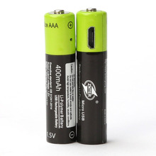 Best Deal 2pcs/lot 1.5V AAA 400mah li-polymer li-ion lithium rechargeable battery USB battery with USB charging line(China)