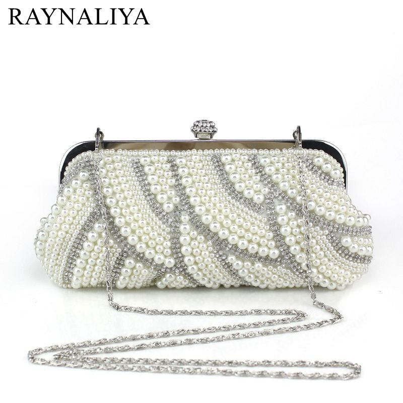 2017 Sale Rushed Frame Womens Pearl Beaded Evening Bags Clutch Handmade Wedding High Quality For Party Bag Luxury Smycy-e0033 <br>