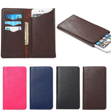 4 Colors Wallet Book Style Leather Phone Case Credit Card Holder Cover For Motorola MOTO DROID RAZR M xt907 For Motorola MOTO E(China)
