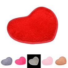 1PCS 2 Sizes Absorbent Memory Foam Bath Home Bathroom Floor Shower Heart Shape Door Mat Rug Soft Fine Fiber Mat