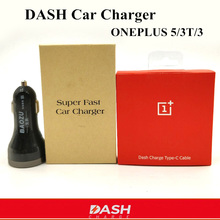 2-Ports usb OnePlus 5 5t Dash Car Charger & 100cm original Quick charge Cable For one plus 3 3t mobile phone(China)