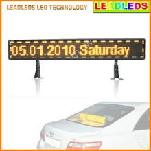 P6 12V Yellow Led module Car LED Display USB information input bus sign Programmable Message Advertising board