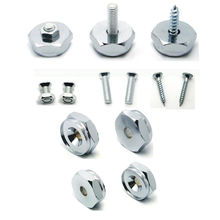 Metal License Plate Frame Bolts Screws Set Fasteners Fit For Land Rover Citroen VW Golf Passat Car Styling Auto Decoration(China)