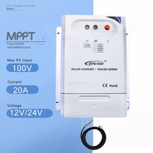 Tracer 2210CN 20A Mppt Solar Charge Controller 12V/24V Auto Solar Panel Battery Charge Regulator with Temperature Sensor