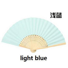 1PC Chinese Style Bamboo&Paper Pocket Fan Folding Hand Held Fans Outdoor Wedding Party Favor Event & Party Supplies 6Z(China)
