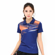 New women's breathable quick-drying sweat sweater, tennis T-shirt, table short-sleeved sports badminton T-shirt, free shiping(China)