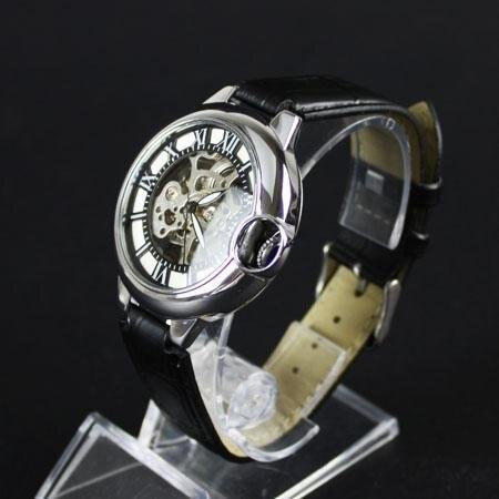 Luxury Men Silver Pierced Automatic Mechnical Watch freeship<br><br>Aliexpress