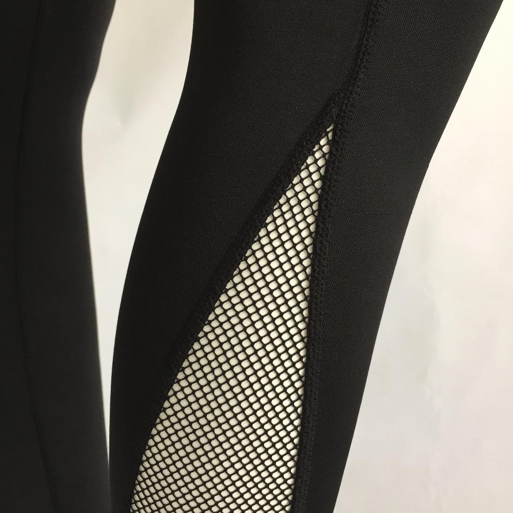 New Women Push-up Sporting Leggings Black Fashion Net Hollow Elastic Skinny Fitness Leggings Sporting Clothing For Women 11