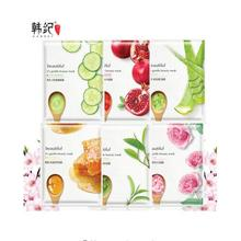Buy Facial Mask Aloe Rose Green Tea Honey Plant Essence Facial Mask Sheet Moisture Whitening Face Mask Pack Skin Care 6Pcs for $1.09 in AliExpress store