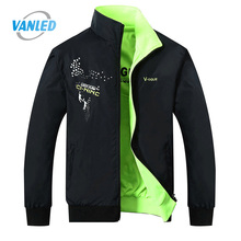 2017 The New Jacket Male Spring Autumn Zipper Embroidery Printing Double Surface Brand Jacket Men'S Casual Thin Jacket Coat
