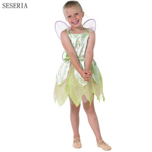SESERIA Halloween Costumes for Girl The Wizard of Oz Green Forest Woodland Fairy Costume Tinkerbell Garden Fairy Cosplay Dress