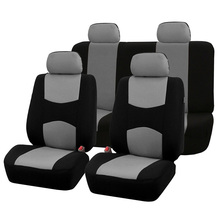 Automobiles Seat Covers Full Car Seat Cover Universal Fit Interior Accessories Protector Color Gray Car-Styling