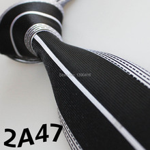 XINCAI Cheap Sell ! 2017 Latest Style Tie Men Black/Silver Striped Design tie Forgroomsmen Gifts Wedding&Casual Men&Gift For Men