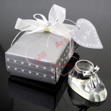 Wedding Baby Shower Favor Crystal Collection Cute Baby Shoe Newborn Gifts(China)