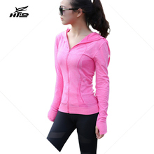 HTLD Sexy Zipper Jacket Long Sleeved Casual Hoodies Workout Sweatshirts Women Fitness Coats Harajuku Tracksuits Moletom Feminino(China)