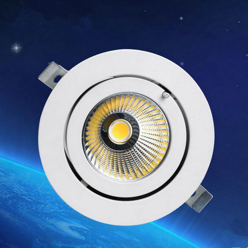Rotate 360 degrees Dimmable LED Downlight COB Spot 20w 30w 40w LED recessed ceiling Lamp Warm Cool White LED Spot Indoor Lights<br>