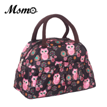 MSMO 2017 new fashion lunch bag women handbags women bags waterproof printed lunch box lunch bag for kids picnic bag 22 Colors(China)