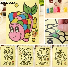 5pcs/lot Children Kids Drawing Toys Sand Painting Pictures Kid DIY Crafts Education Toy for boys and girls GYH(China)