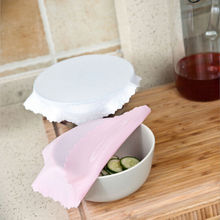 Silicone Stretch Bowl Wrap Cover Reusable Cling Films Keep Fresh Cup Holders Mat