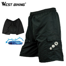 WEST BIKING 2015 New Men MTB Padded Sports Wear Mountain Road Bike Ciclismo Shorts Bicycle Cycling Shorts Pants